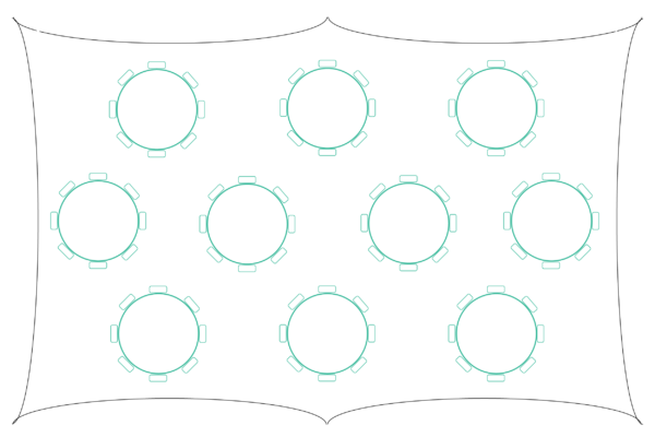 2838 Capri Marquee Table Plan