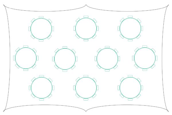 2838 Capri Marquee Table Plan